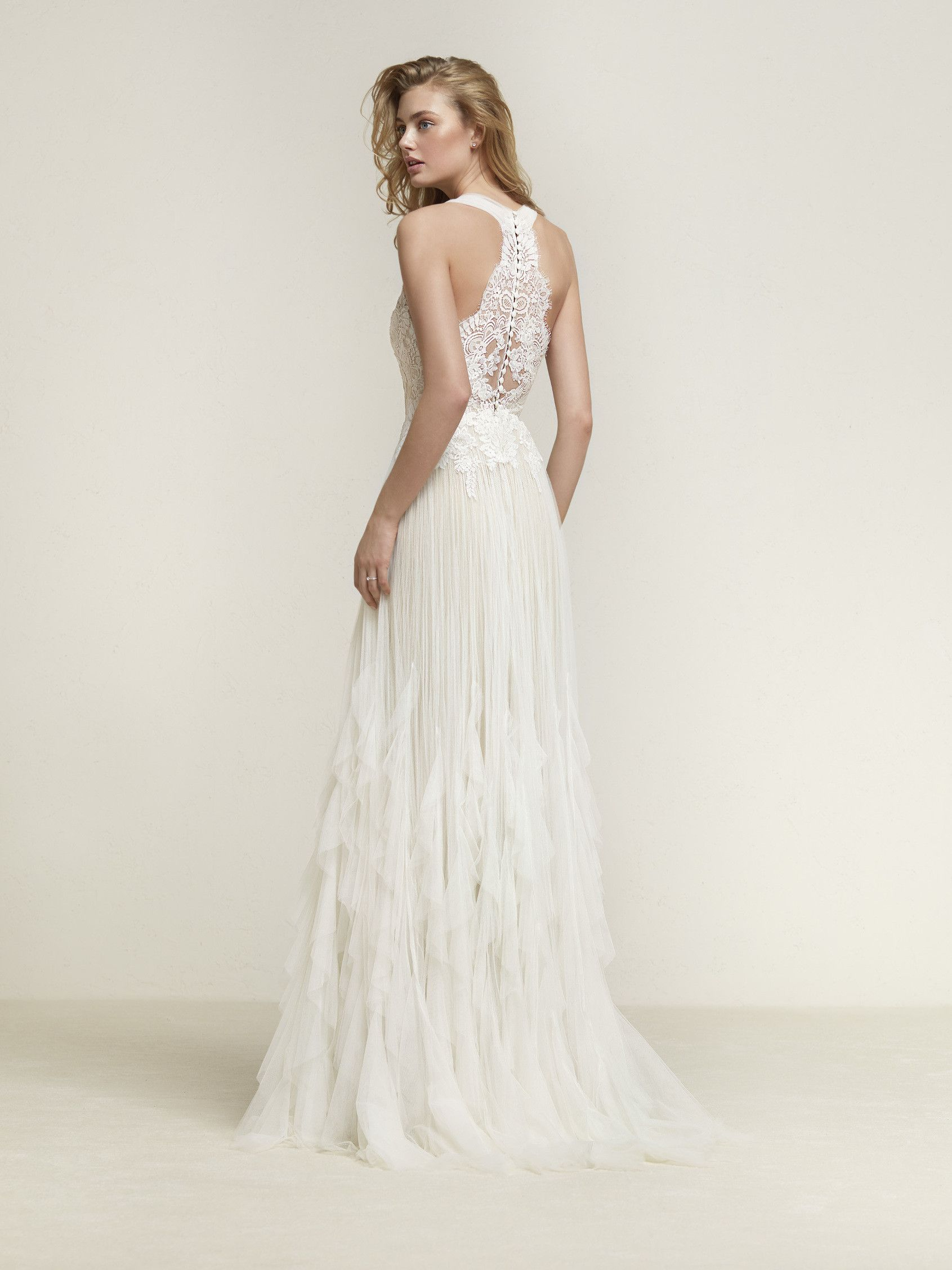 Vestido de noiva folhos | Dresses | Pinterest | Hochzeitskleider ...