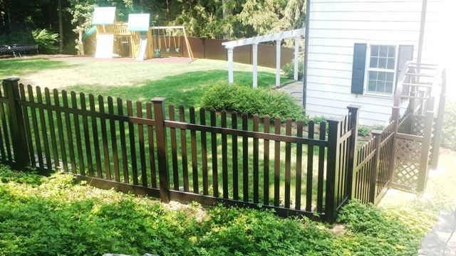 Black Vinyl Picket Fencing Vinyl Picket Fence Vinyl Fence Picket Fence