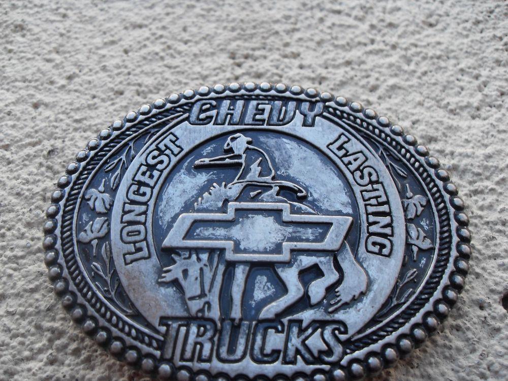 Chevy truck belt buckles