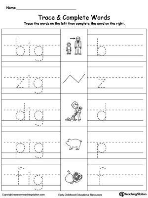 Ig Word Family Workbook For Kindergarten Word Family Worksheets Kindergarten Word Families Word Families