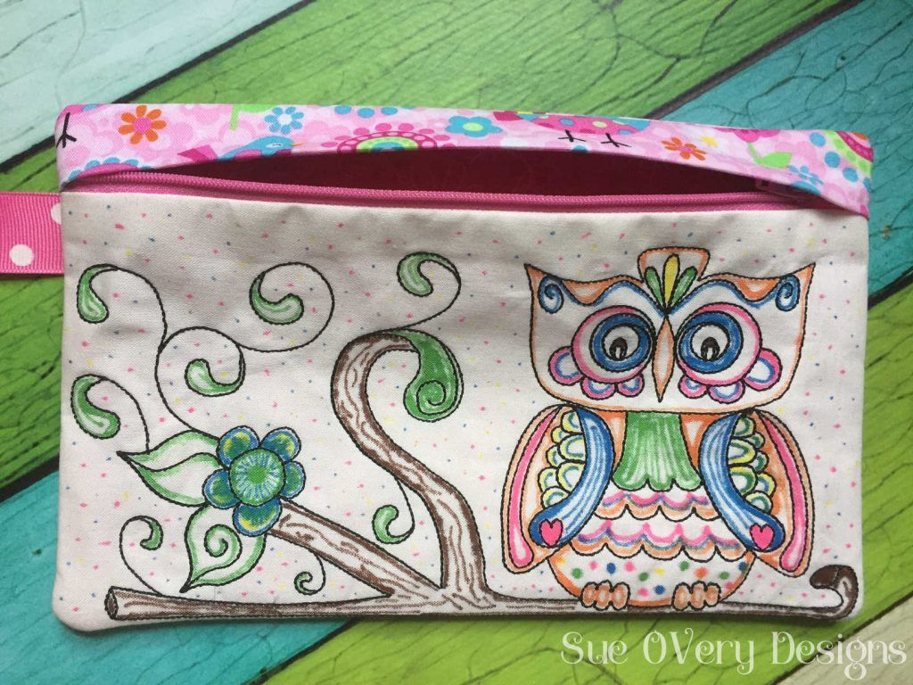 Clever and Easy Coloring Book Zipper Bags Made In the
