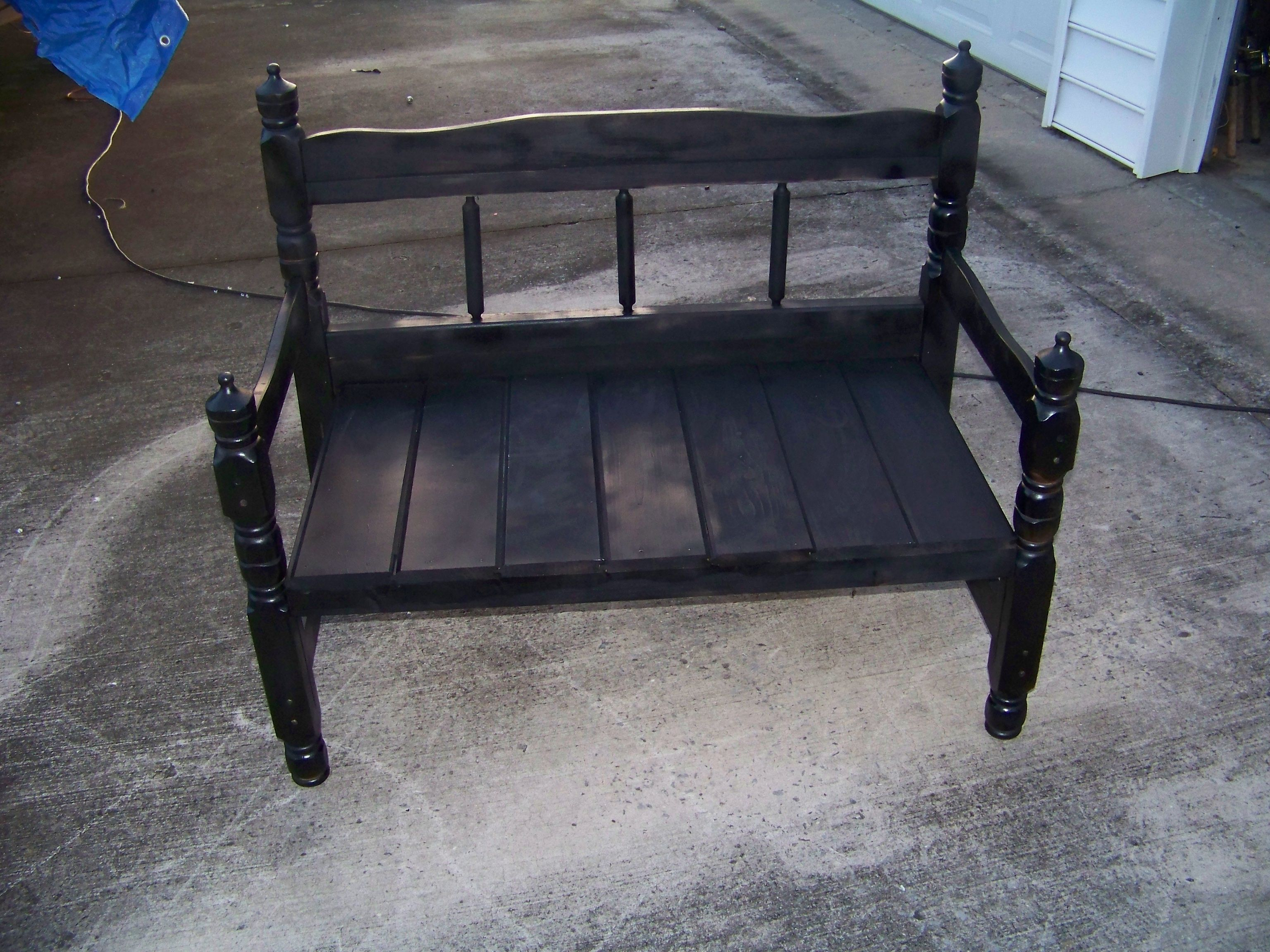 Remarkable My Husbands New Project Twin Bed Frame Bench In Short Links Chair Design For Home Short Linksinfo