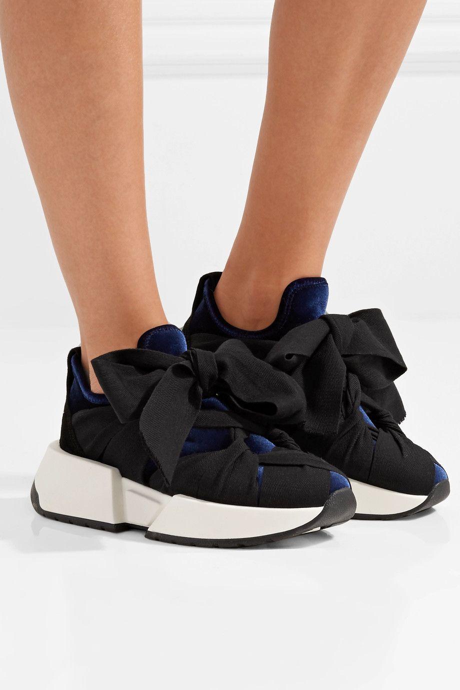 MM6 Maison Margiela | Velvet sneakers