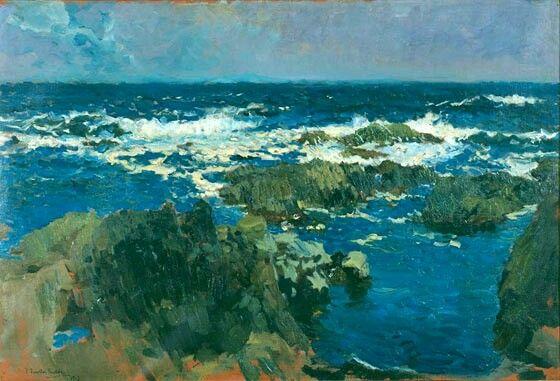 Mar y rocas de San Esteban, Asturias (1900)