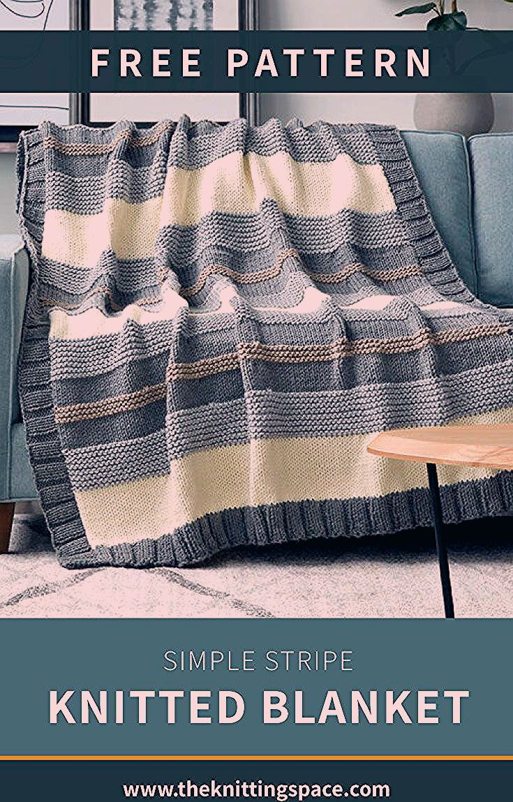Create this chic knitted blanket, perfect as a functional modern home décor. Th...  Create this chic knitted blanket, perfect as a functional modern home décor. This easy knitting pr #Blanket #chic #Create #Decor #functional #Home #Knitted #Modern #perfect