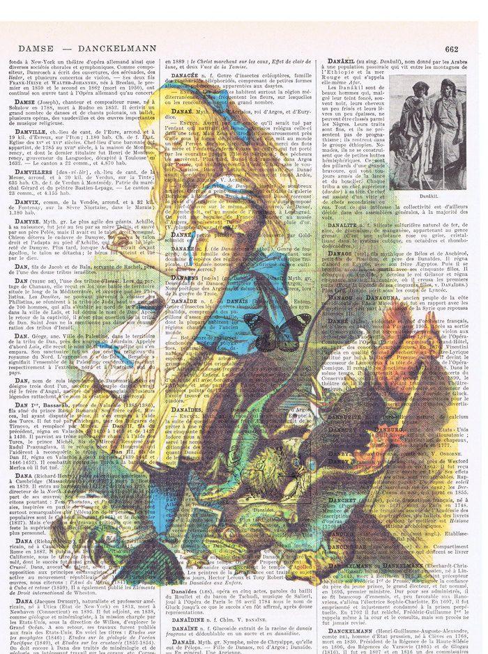 Alice in Wonderland.Vintage Book Page Print.squirrel.frog.eco.buy 3 get 1 free.child deco.birthday gift.fantasy.mom.dad.animals.nursery.art. by JackieBassettArt on Etsy