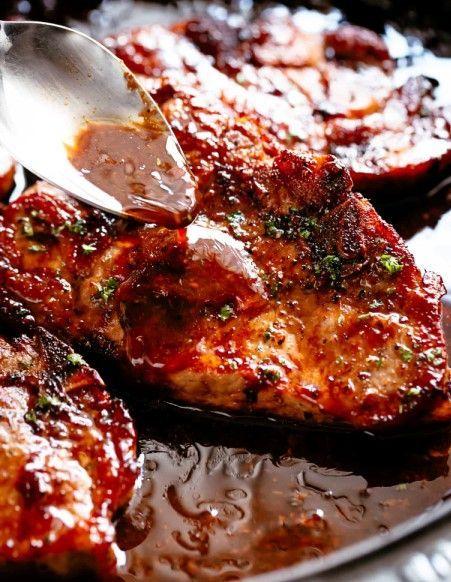 Easy Honey Garlic Baked Pork Chops Recipe    -  recipes