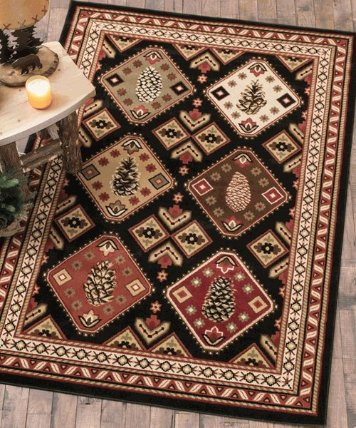 Log Cabin Rug Cabin Lodge Rug Collections Cabin Rugs Rustic