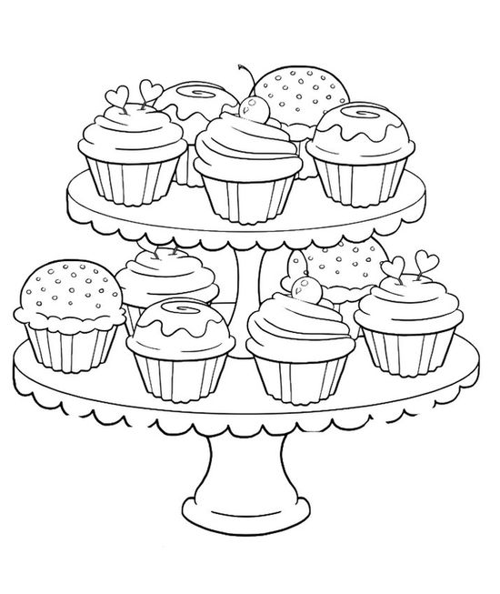 Coloring Kids In 2020 Cupcake Coloring Pages Candy Coloring Pages Birthday Coloring Pages