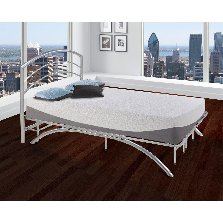 Arch Silver Decorative Metal Headboard Metal Platform Bed Bed