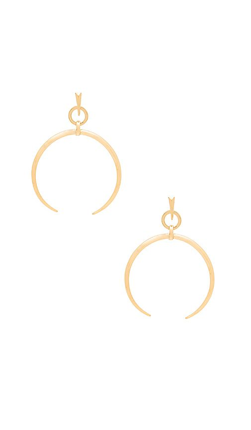 3fe9edb5bfde4 Shop for Luv AJ Oversized Crescent Hoop Earrings in Antique Gold at ...