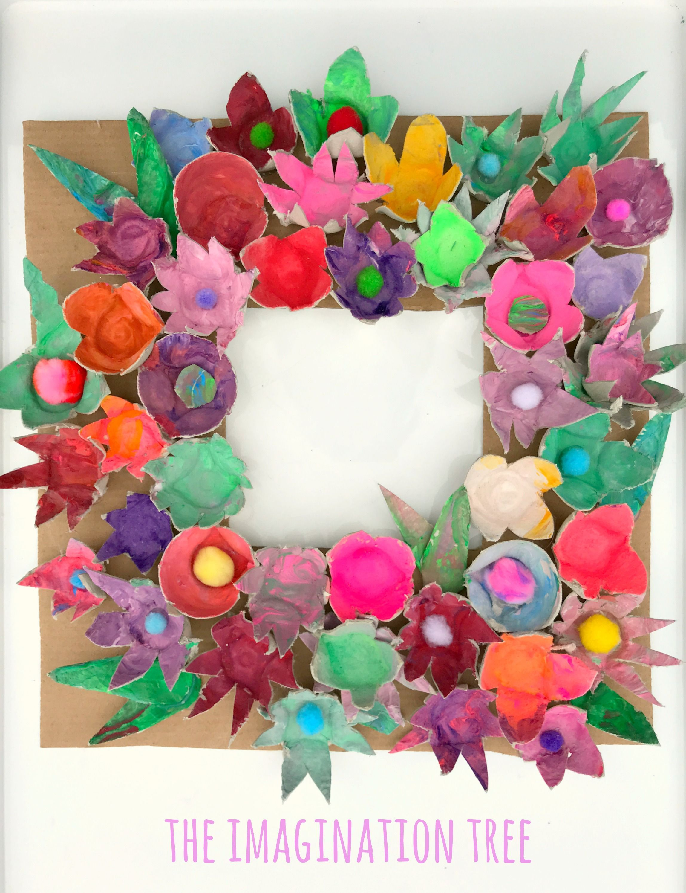 Egg Carton Flowers - The Imagination Tree