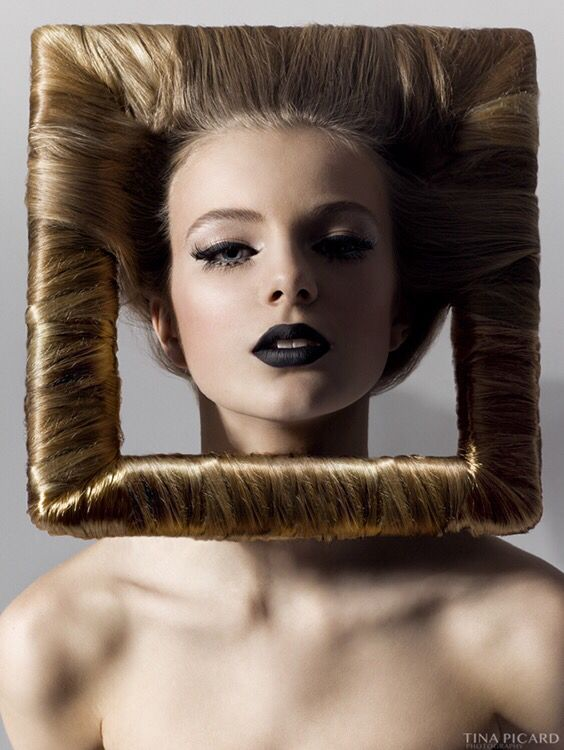 avant garde photo frame hair