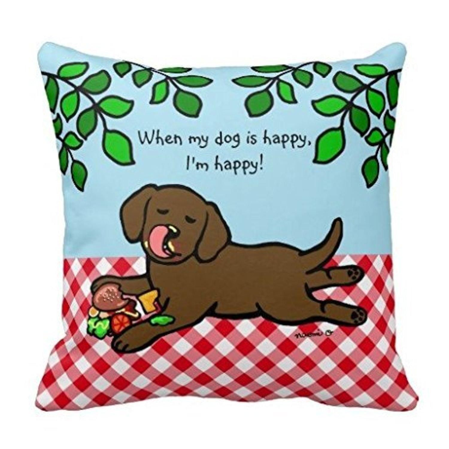 Snacking dog pi0093 Decorative pillowcases Dimensions: 18 ¡Á 18 inches / 45 cm ¡Á 45 cm ROOMSs - Brought to you by Avarsha.com