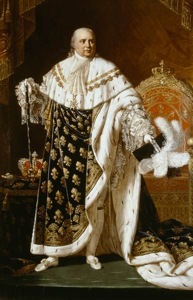King Louis XVIII returned from exile following Napoleon's ...