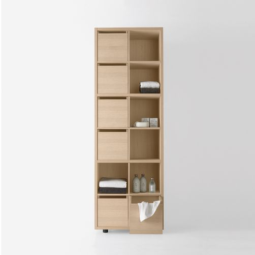 Attractive Agape   Cabinets   Konte   Vertical Storage Unit In Natural Oak Finish