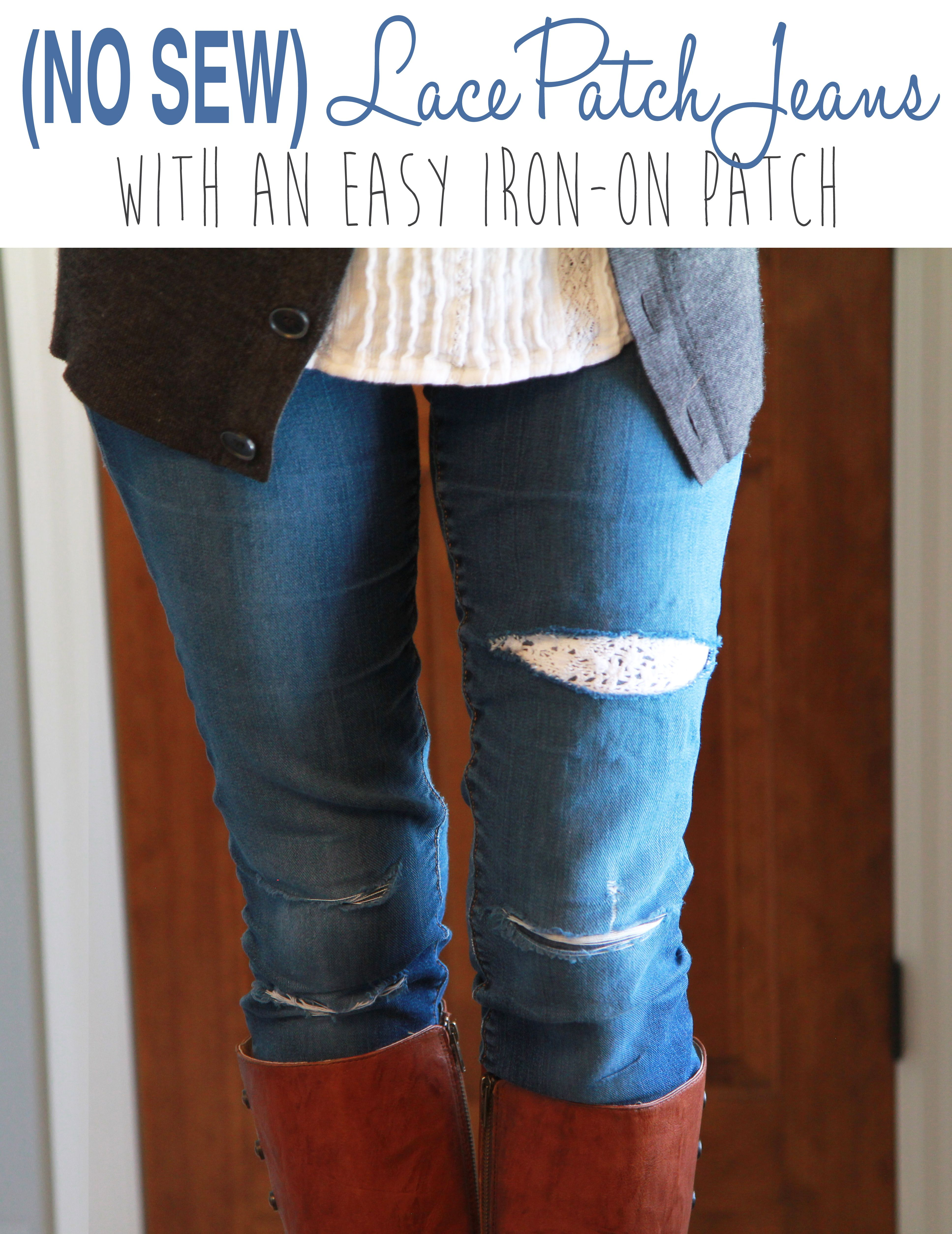iron on patch for ripped jeans