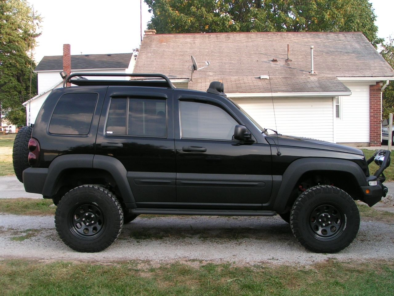 4 Lift Roof Rackhub Caps Removed Stinger Lights Winchmount Side Decals Removed Jeep Liberty Badass Jeep Lifted Jeep