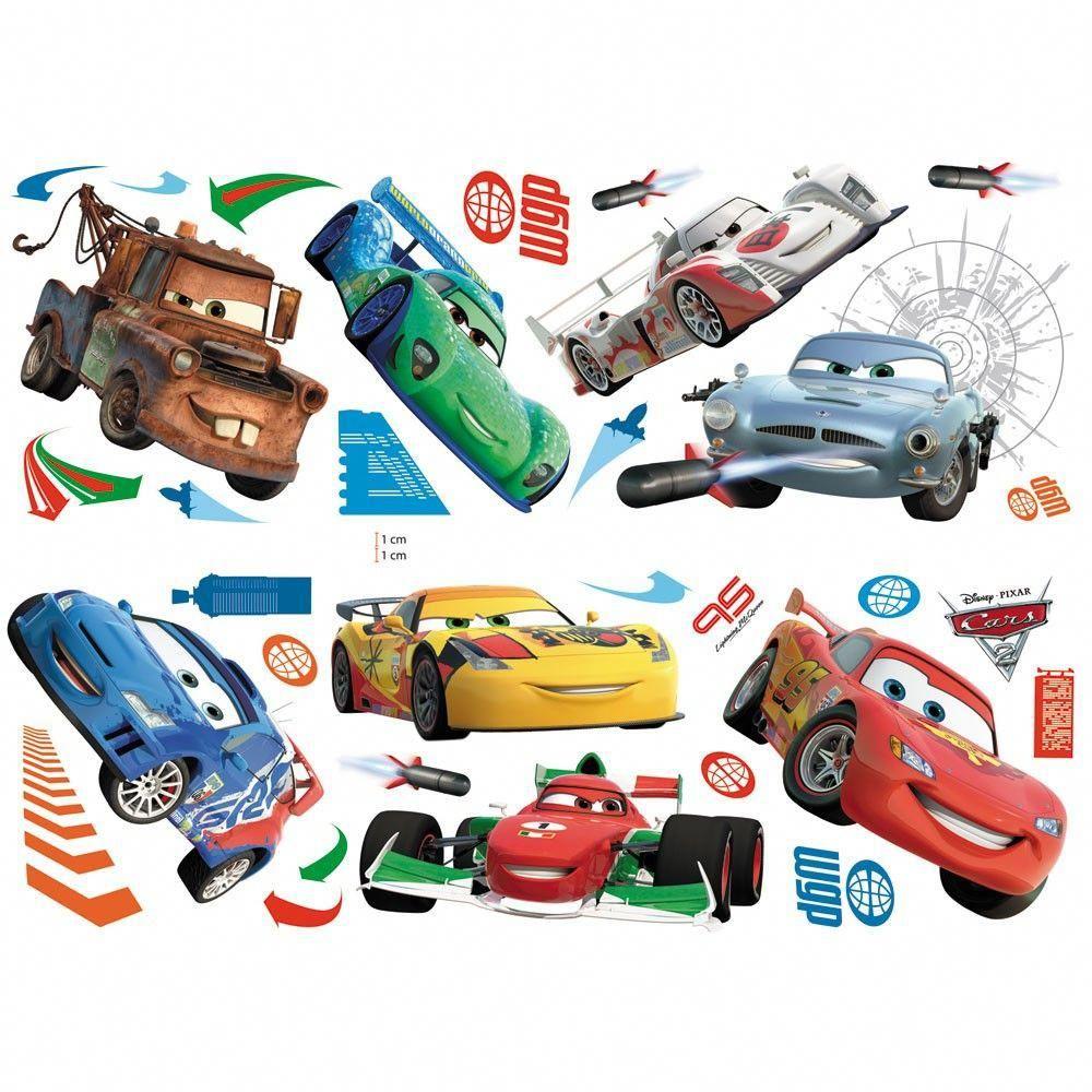 Disney Cars Wall Stickers Bedroomwalldecor Kids Bedroom Wall Decor Disney Cars Disney Pixar Cars [ 1000 x 1000 Pixel ]