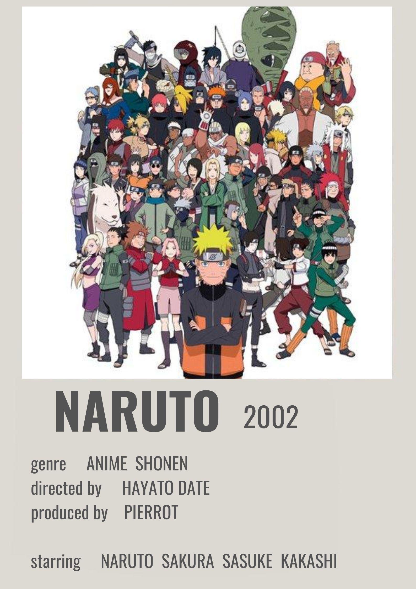Naruto Polaroid Poster | Anime canvas, Anime films, Anime printables