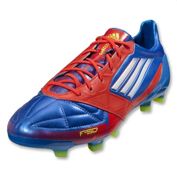 cf3eb6bd0346 adidas F50 adizero TRX FG Soccer Shoe (Leather) [G45575] Prime Blue/White/Core  Energy - $154.99 Save: 26% OFF