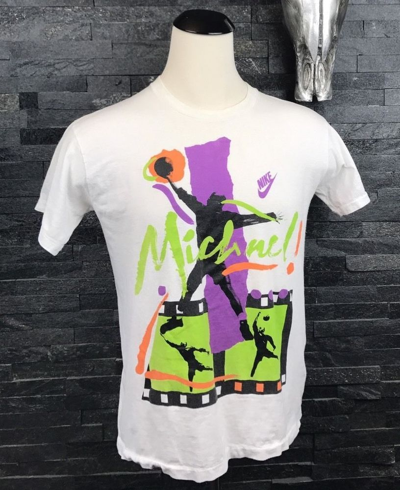 d9dabf82c56 Nike Tee Shirt Men's Medium White Green Michael Jordan Basketball Made USA  Vtg #MichaelJordan