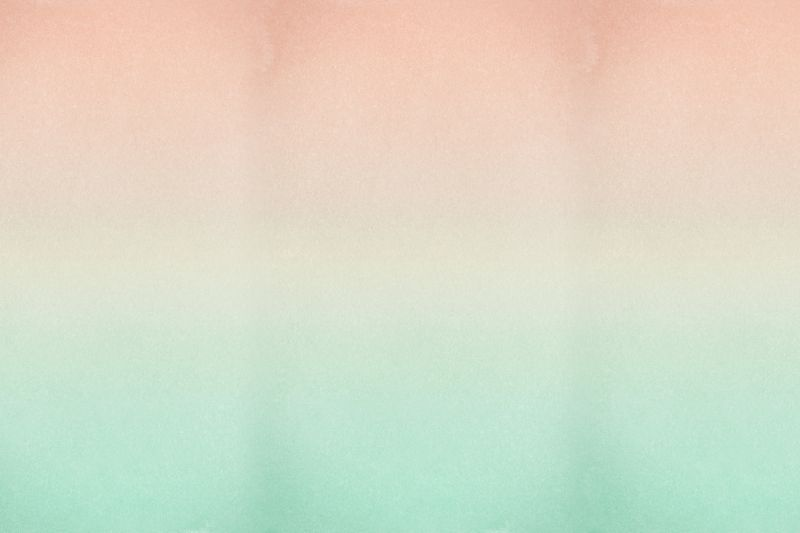 Peach and Turquoise Fade Ombre Wallpaper Mural
