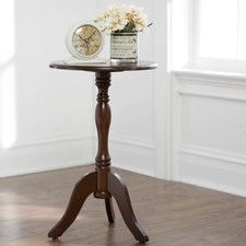 Fay End Table Accent Furniture Living Room Pedestal Side Table End Tables