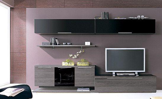 Mueble de salón acabado en color blanco y arena. disponible ...