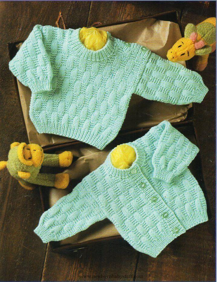 Baby Knitting Patterns baby cardigan sweater knit pattern PDF button ...