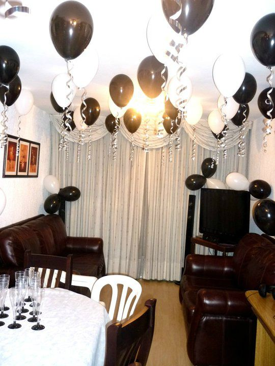 Decoración de mi fiesta de 20 años black and white Fiesta black&white in 2019 Ideas para
