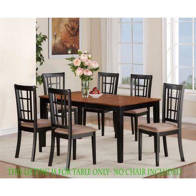 East West Nicoli Dining Table Wayfair Dining Room Sets Kitchen Dinette Sets Dinette Sets