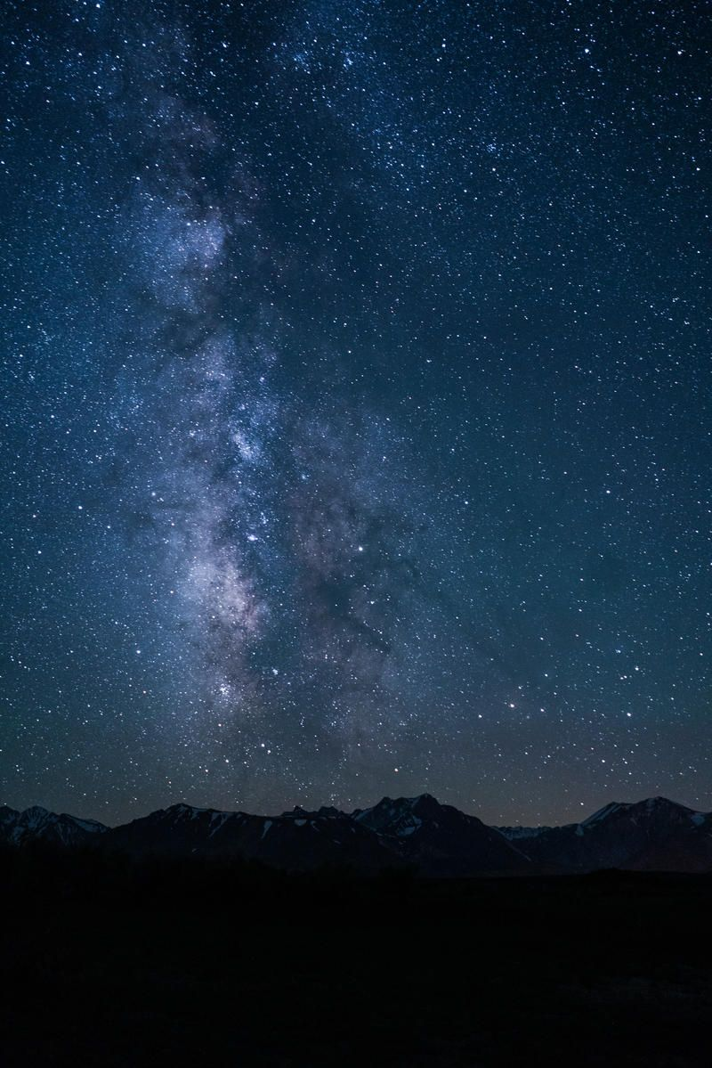 Mountain Star And Night Hd Photo Download Sky Pictures Sky Starry Sky