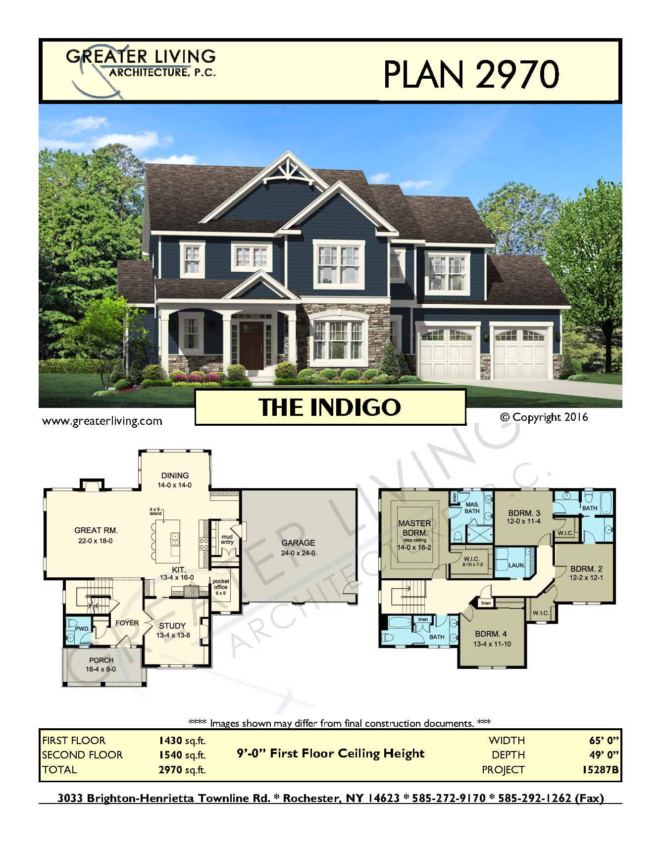 Plan 2970 the house plans 2 story house plan for Estate home plans designs
