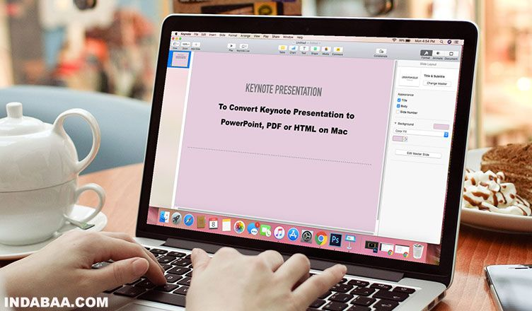 Convert Keynote Presentations to PowerPoint, HTML or PDF