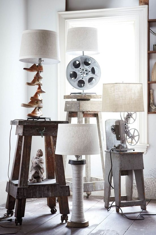 repurposed items | Repurposed / Old items repurposed as lamp stands, at Anthropologie for ...