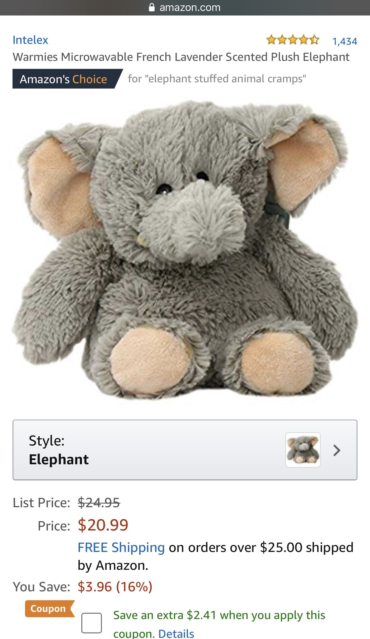 for period cramps Elephant plush, Animal fashion, Plush