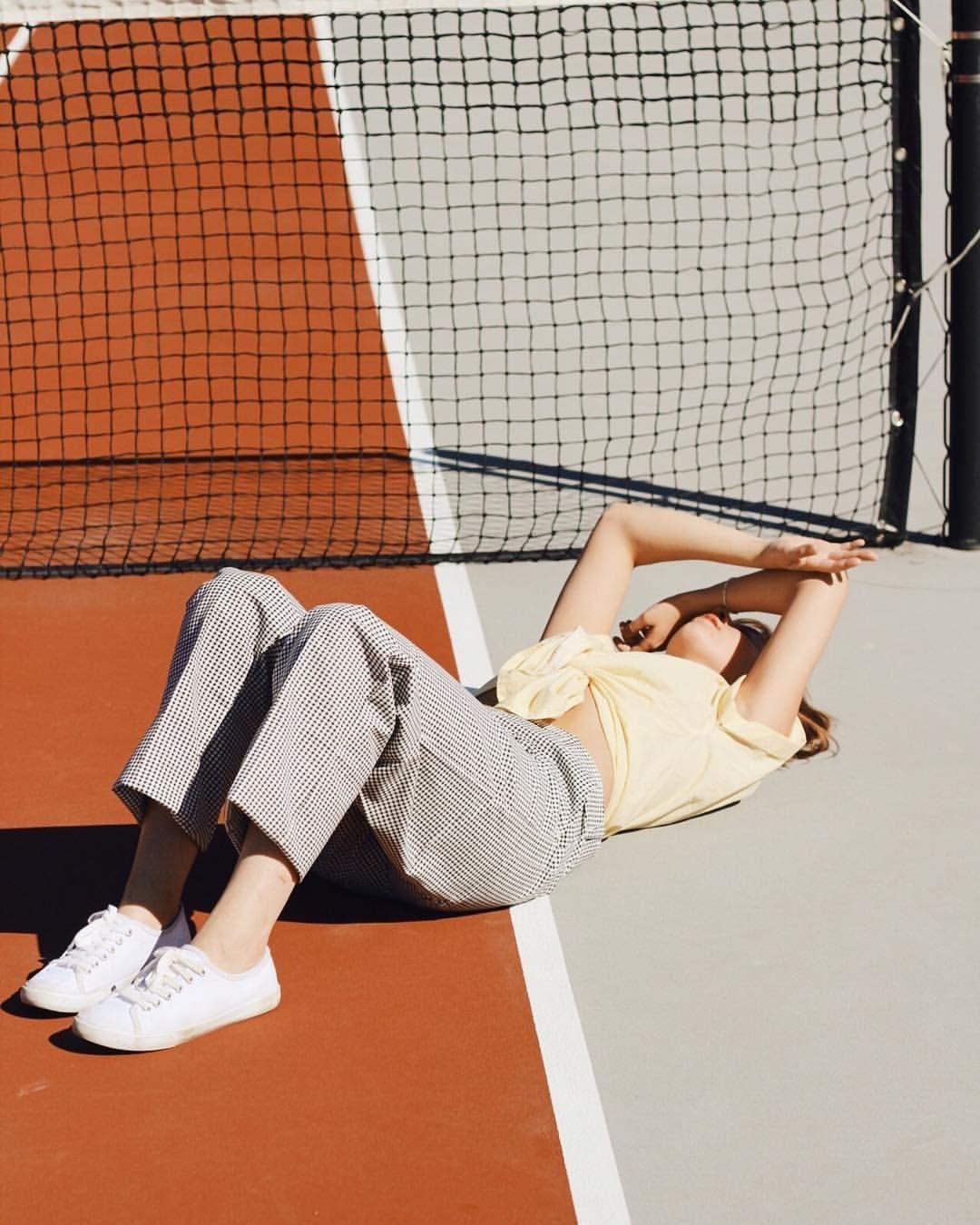 Shealynnault Tennis Court Hangs Artofvisuals Followthevision Hcollective Artisticco Tennis Court Photoshoot Models Photoshoot Tennis Fashion