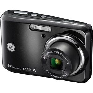 GE Black Smart Series C1440 Digital Camera with 14.1 Megapixels and 4x Optical Zoom