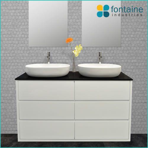 Palazzo 1500 Freestanding Bathroom Vanity Twin Ceramic Basins And Stone Top Renovation Design Ideas
