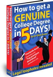 Discover a hidden secret to getting genuine and verifiable college degrees and diplomas 100% online using this fantastic technique. Free information.
