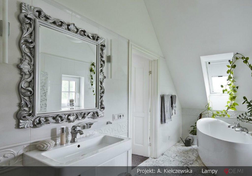 Aranżacja łazienki Z Pięknym I Funkcjonalnym Oświetleniem