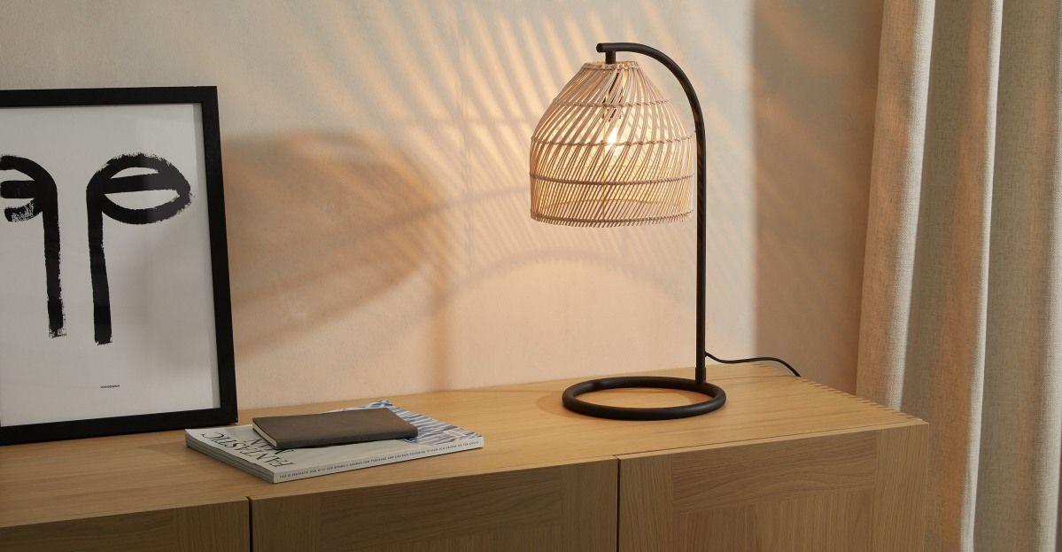 Java Overreach Table Lamp, Natural