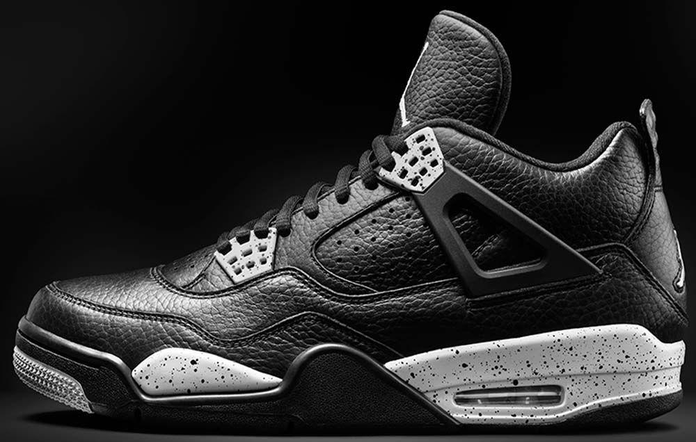Air Jordan 4 Ls Retro Gris Negro / Negro-cool