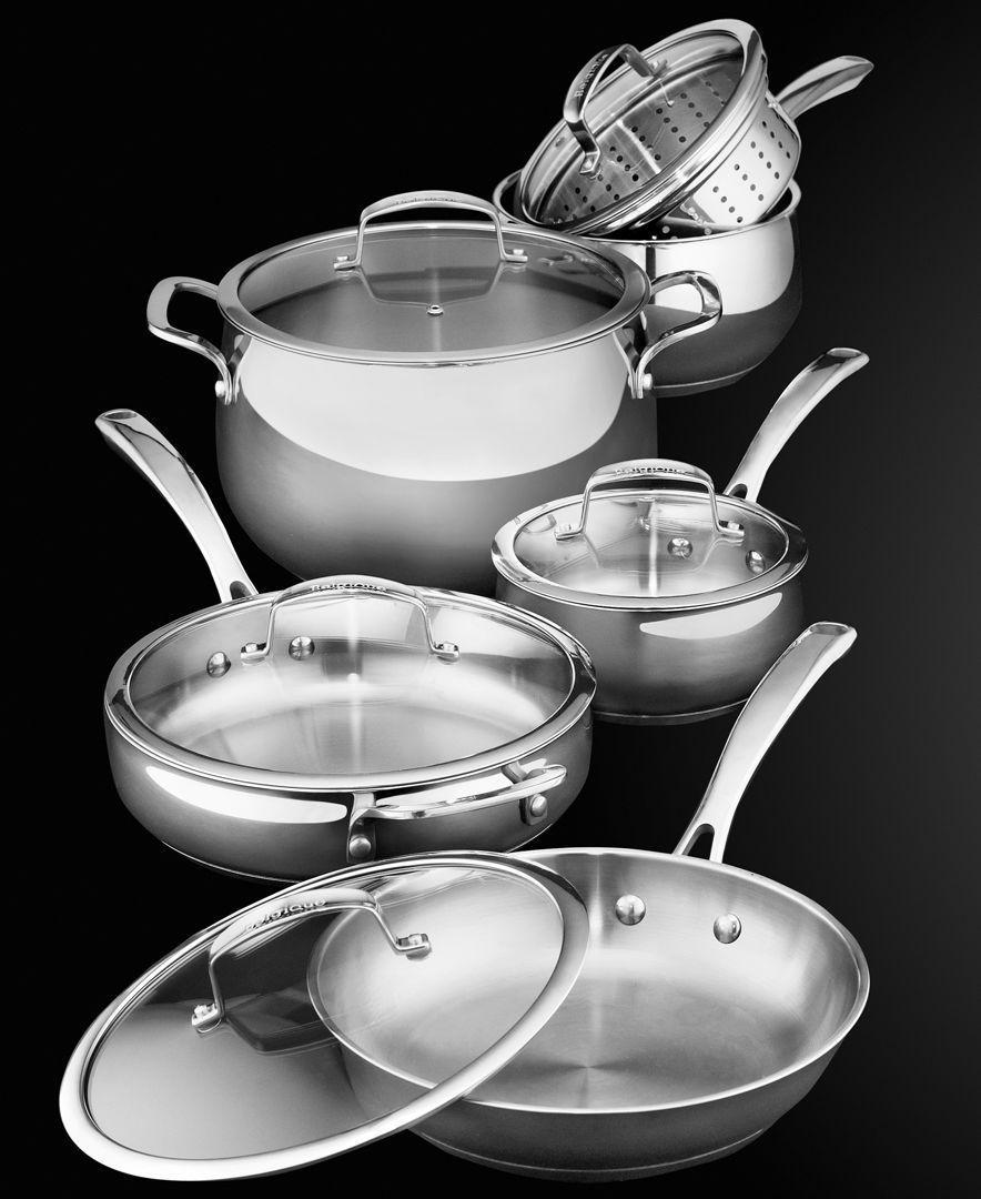 Belgique stainless steel cookware 11 piece set cookware