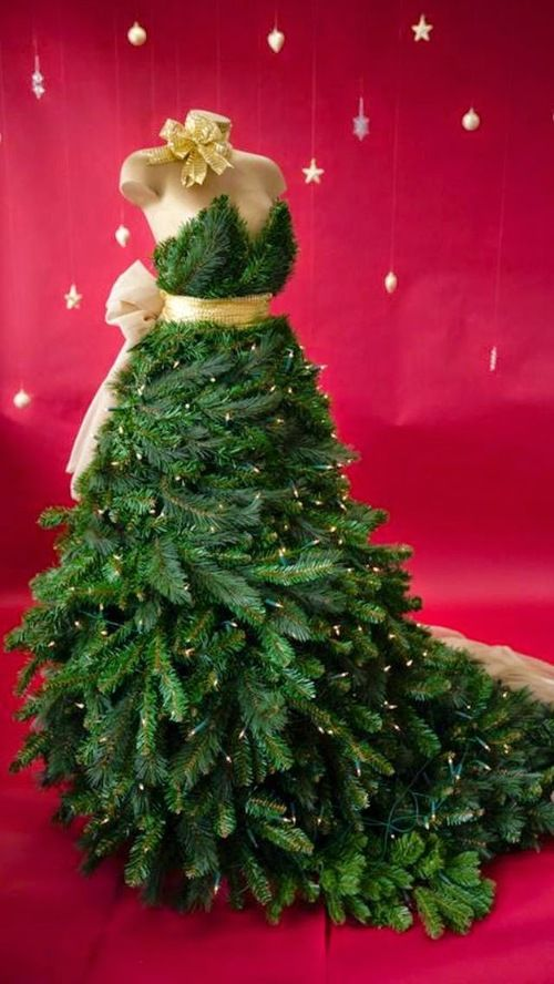 46 Fashion Inspired Christmas Trees Made From Dress Forms Dress Form Christmas Tree Mannequin Christmas Tree Christmas Tree Dress