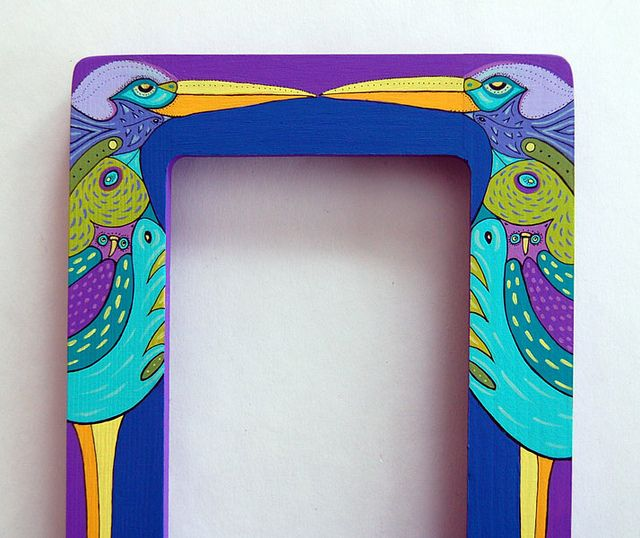 Painted Mirror Frame Painting Mirror Frames Mirror Painting