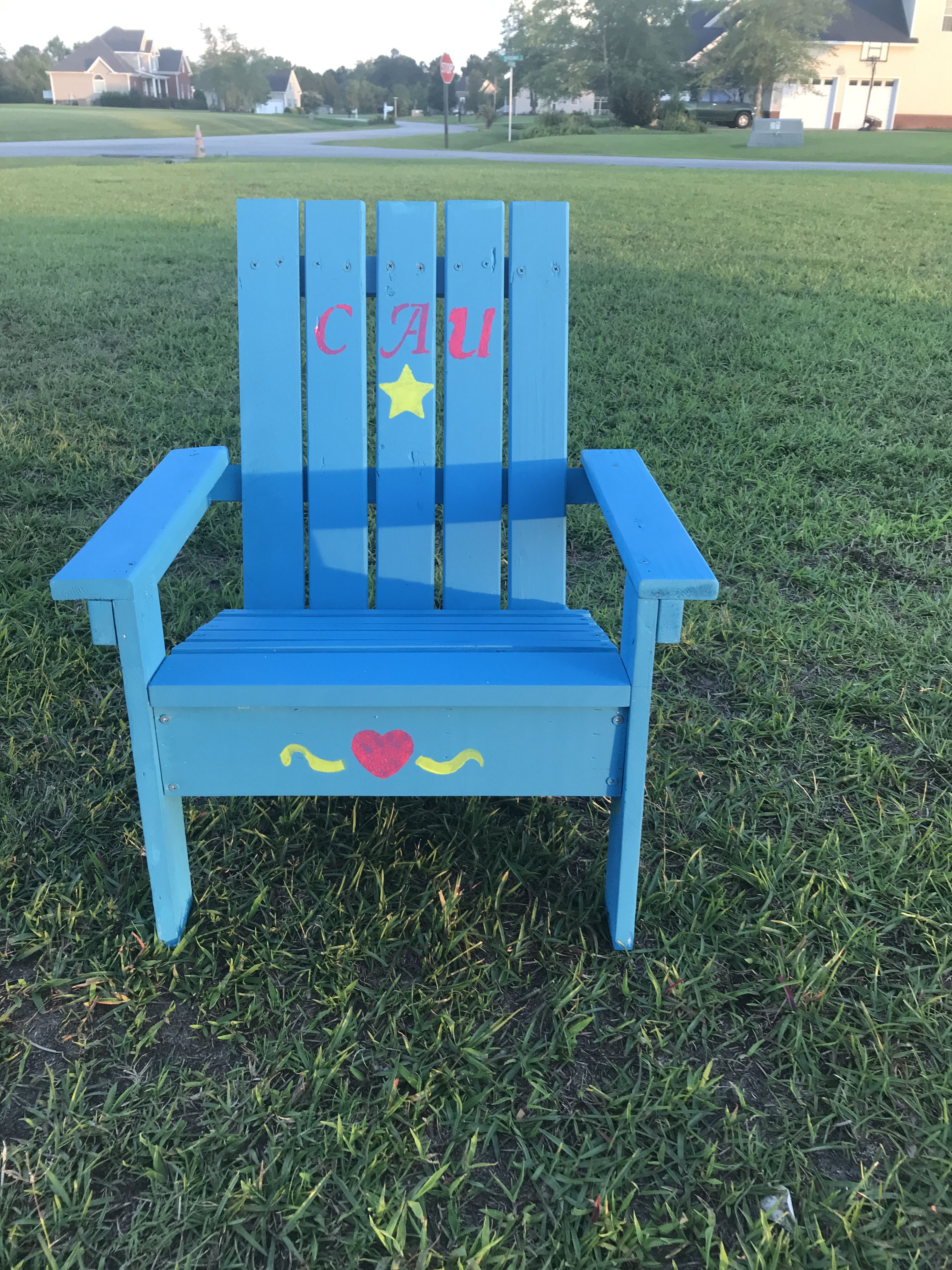Used Anawhite's plans for child's Adirondack chair. Happy