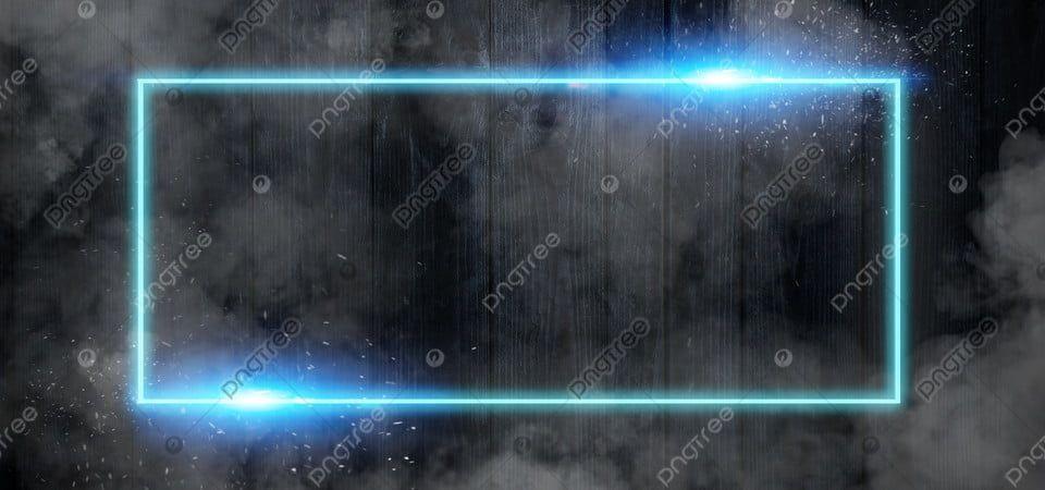 Futuristic Neon Banner Blue Frame With Lens Flare Lens Flare Photoshop Digital Background Optical Flares