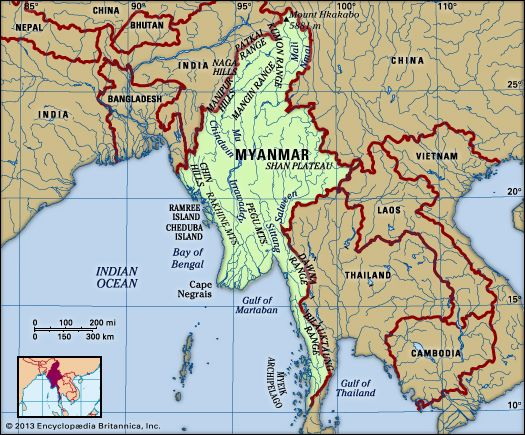 Myanmar | Map, Geography, Cartography